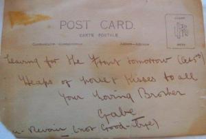 G MIRON postcard read side 1