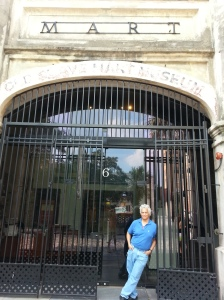 Walter Boags outside the 'Old Slave Mart' in Charleston